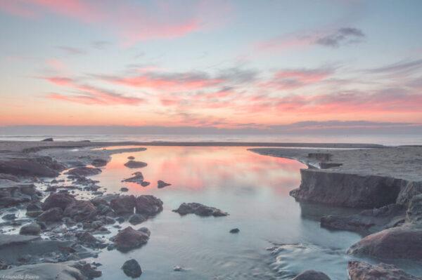 Foto quadro mare e paesaggio al tramonto lunga esposizione - Antonella Fusco